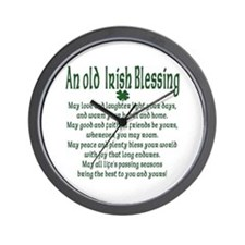 Old irish Blessing Wall Clock