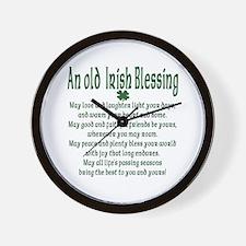 Old irish Blessing Wall Clock