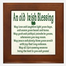 Old irish Blessing Framed Tile