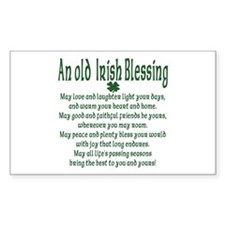 Old irish Blessing Rectangle Decal
