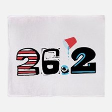 Marathon 26.2 Throw Blanket