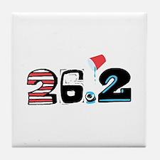 Marathon 26.2 Tile Coaster