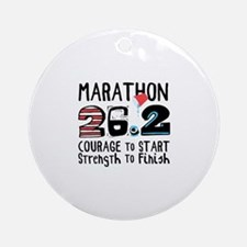 Marathon Courage Ornament (Round)
