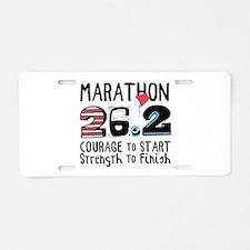 Marathon Courage Aluminum License Plate