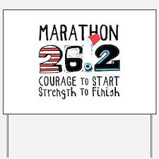 Marathon Courage Yard Sign