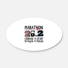 Marathon Courage Oval Car Magnet