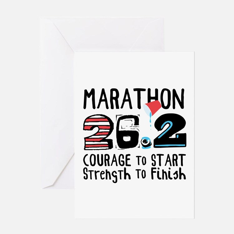 Marathon Courage Greeting Cards
