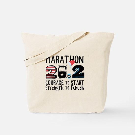 Marathon Courage Tote Bag