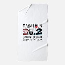 Marathon Courage Beach Towel
