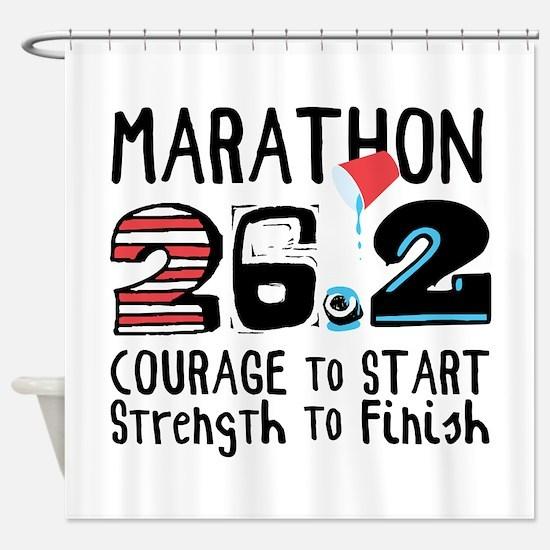 Marathon Courage Shower Curtain