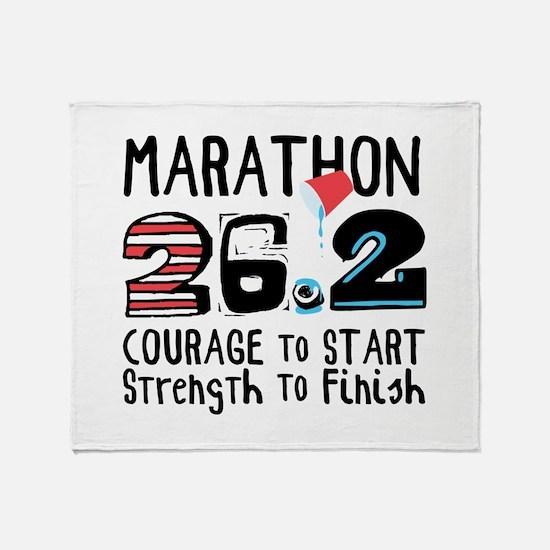 Marathon Courage Throw Blanket
