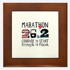 Marathon Courage Framed Tile