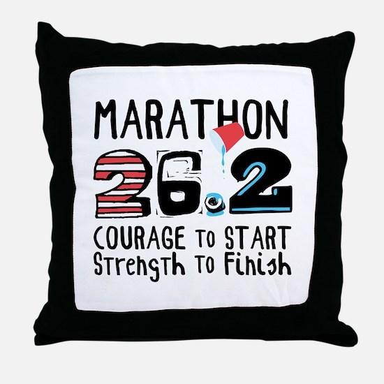 Marathon Courage Throw Pillow