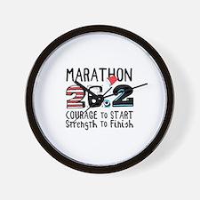 Marathon Courage Wall Clock
