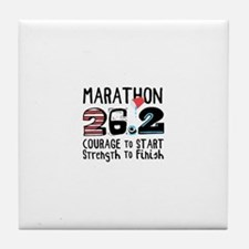 Marathon Courage Tile Coaster
