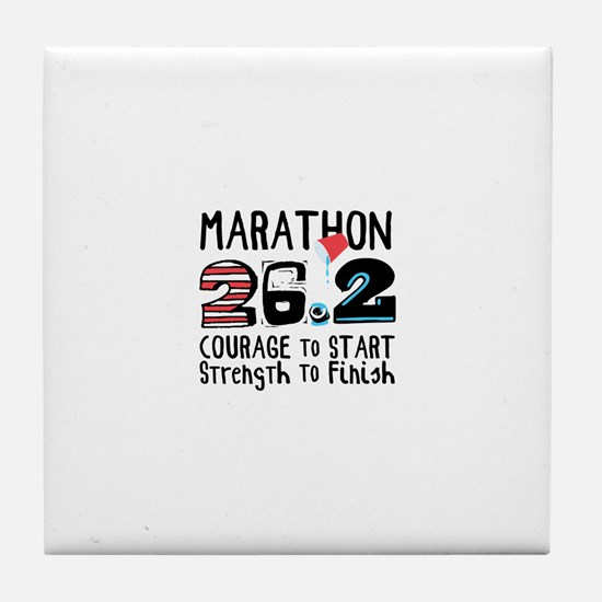 Marathon Courage Tile Coaster