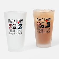 Marathon Courage Drinking Glass