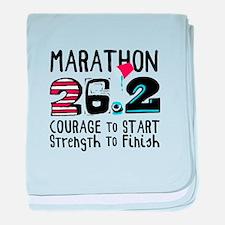 Marathon Courage baby blanket