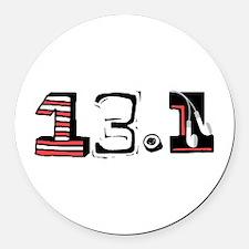Half Marathon 13.1 Round Car Magnet