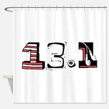 Half Marathon 13.1 Shower Curtain