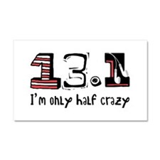 Half Crazy Car Magnet 20 x 12