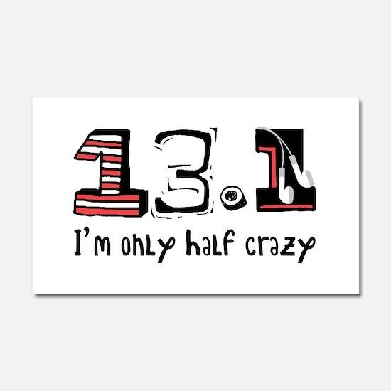 Half Crazy Car Magnet 20 x 12