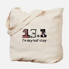 Half Crazy Tote Bag