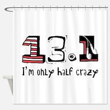 Half Crazy Shower Curtain