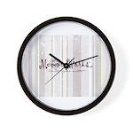 Consultant Striped Logo Wall Clock