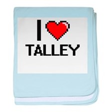 I Love Talley baby blanket