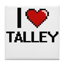 I Love Talley Tile Coaster