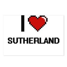 I Love Sutherland Postcards (Package of 8)