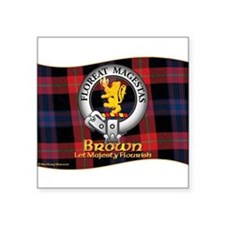 "Funny Scottish clan Square Sticker 3"" x 3"""