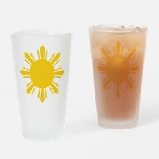 Cute Philippines flag Drinking Glass