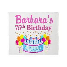 75TH CELEBRATION Throw Blanket