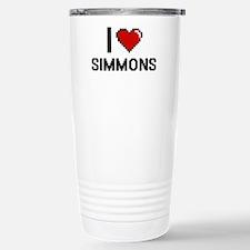 I Love Simmons Stainless Steel Travel Mug