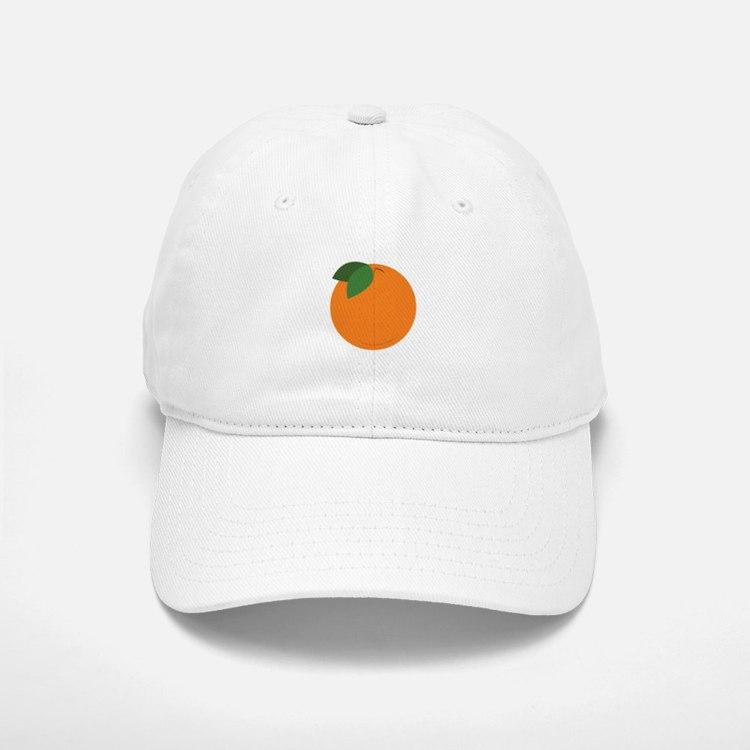 Round Orange Baseball Baseball Baseball Cap
