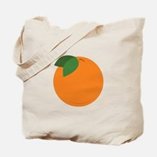 Round Orange Tote Bag