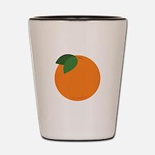 Round Orange Shot Glass