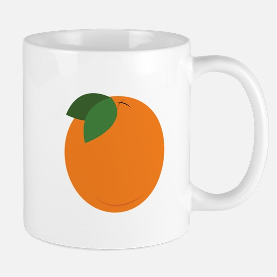 Round Orange Mugs