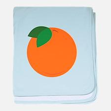Round Orange baby blanket