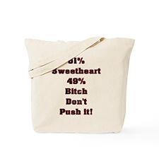 51% Sweetheart Tote Bag