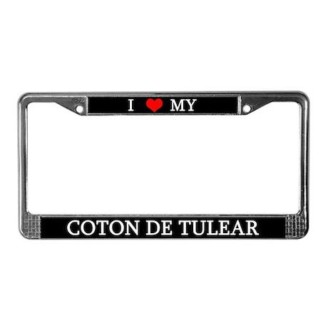 Love Coton de Tulear License Plate Frame