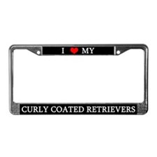 Love Curly Coated Retrievers License Plate Frame