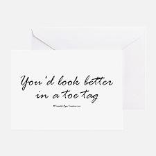 Toe Tag Greeting Card