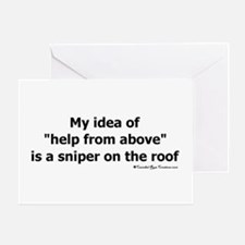 Sniper Greeting Card