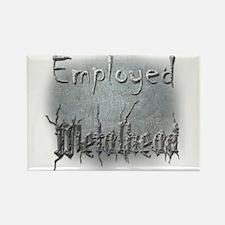 Employed Metalhead Rectangle Magnet