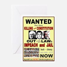 Wanted bush cheney Out Laws Greeting Card