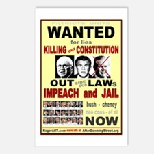 Wanted bush cheney Out Laws Postcards (Package of