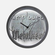Employed Metalhead Wall Clock